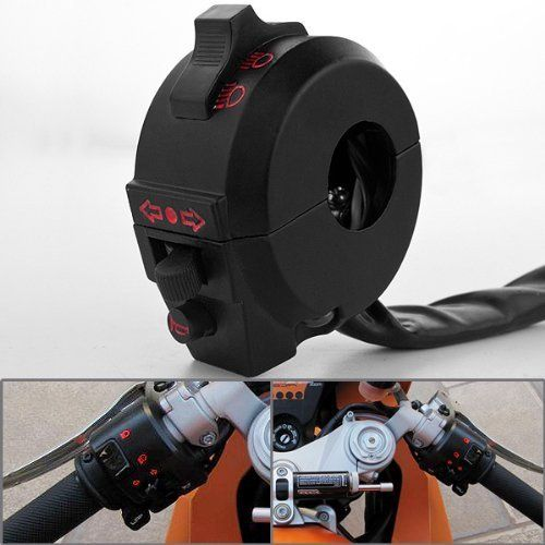 """1x All In One Aluminum Turn Signal Blinker Horn High Low Beam Headlight Motorcycle Left Side Control Switch For KTM Street Bike Dual Sport Model with 7/8"""" Handlebar. For product info go to:  https://www.caraccessoriesonlinemarket.com/1x-all-in-one-aluminum-turn-signal-blinker-horn-high-low-beam-headlight-motorcycle-left-side-control-switch-for-ktm-street-bike-dual-sport-model-with-78-handlebar/"""