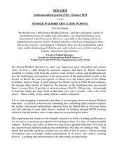 Steiner-Waldorf Education in Nepal