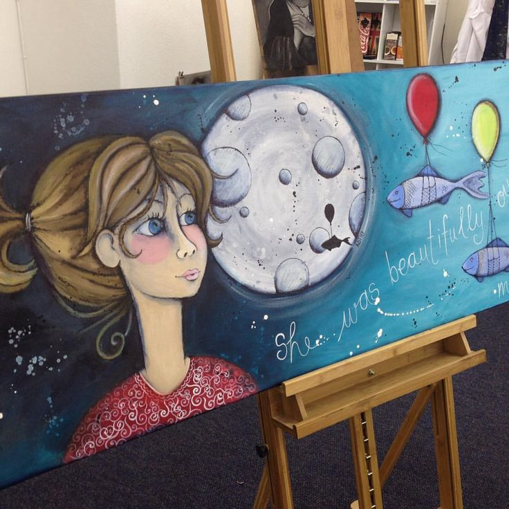 """Available: Fresh from the easel... First painting from my new """"Dreamer"""" collection. 50 X 150cm"""