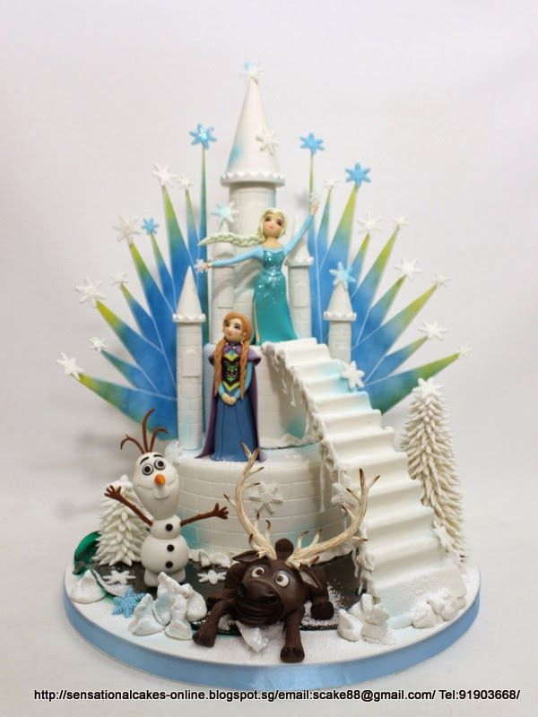 THEME SUGARCRAFT FIGURINES MASTERPIECE / FROZEN CAKE SINGAPORE  Party ...