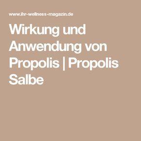 Wirkung und Anwendung von Propolis | Propolis Salbe