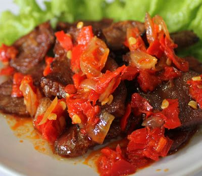 Dendeng Balado #Indonesian recipes #Indonesian cuisine #Asian recipes  http://indostyles.com/