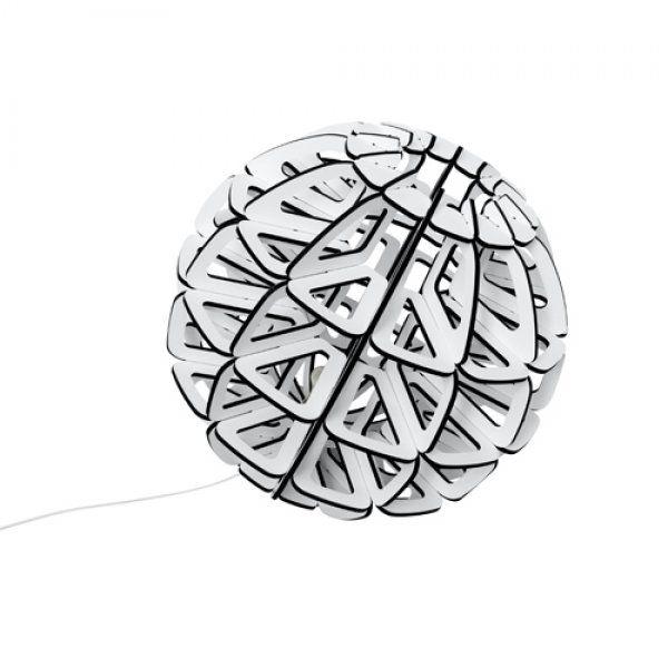 Planet Candeeiro de chão ou mesa.MDF laminado Branco.ø 50 cm ou ø 70 cmE27 21W EC* As peças não incluem lâmpadas.* O prazo de entrega é de 3 a 4 semanas após a adjudicação, sujeito a confirmação.