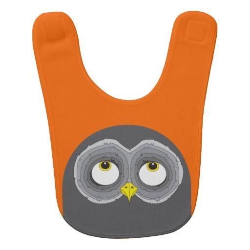 Cute Owl Design Baby Bib