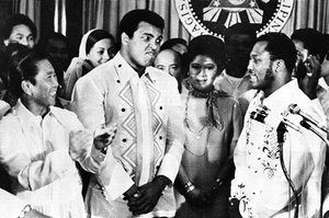 From Zaire to the Philippines, where Ali faced off with Frazier for the third time in a bout dubbed 'the Thrilla in Manila'.