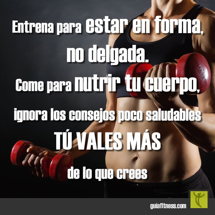 ¡Entrena para estar en forma!  #motivación #frases #quotes #fitness…