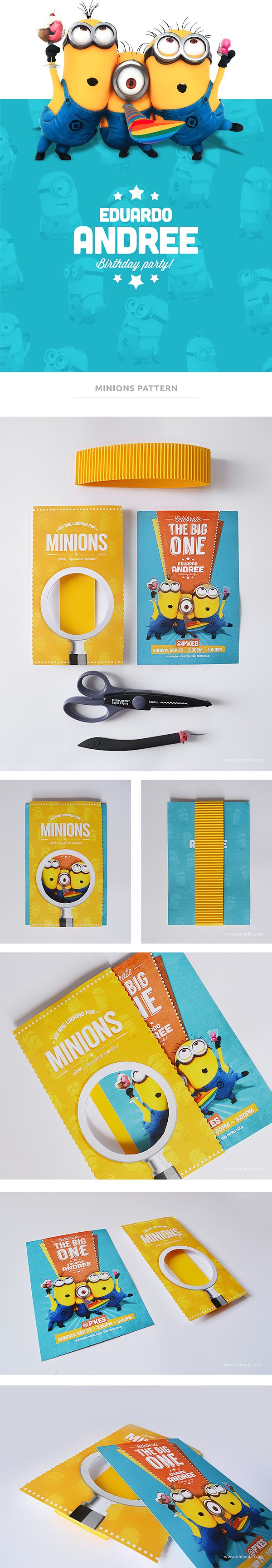 Despicable Me / Minion Birthday Invite by Eduardo Mejia, via Behance