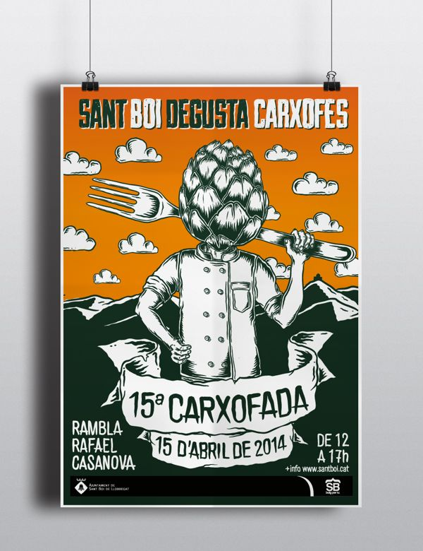 Carxofada 2014 by Marc Pallàs, via Behance