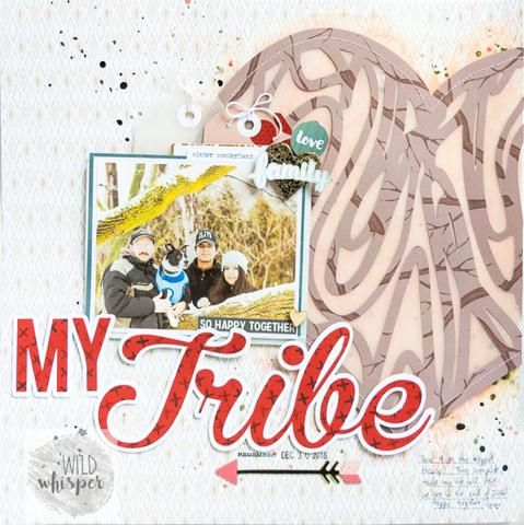 "Nathalie DeSousa ""My Tribe"" layout using the Rooted Love collection with process video"