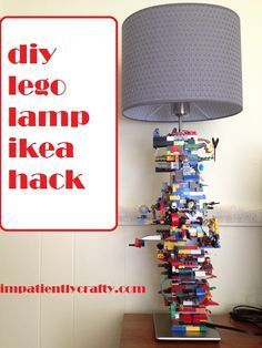 Tutorial for super easy lego lamp.. great for a boys room and fun to make!! easy Ikea hack