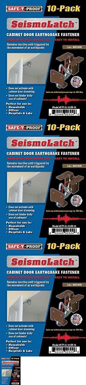 Baby Locks and Latches 117027: Seismolatch Automatic Earthquake Activated Cabinet Latch, Brown, 10-Pack -> BUY IT NOW ONLY: $48.55 on eBay!