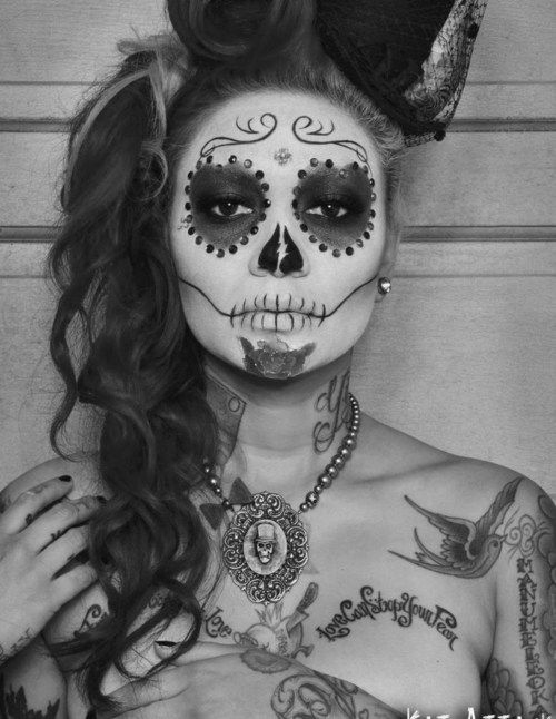 . #SugarSkulls #Tattoos #MakeUp