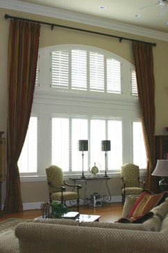 Window Treatments For Two Storey Rooms | ... The Wall Interiors ~ Two  Story. Traditional ...