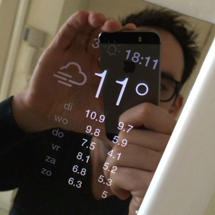 """""""Magic Mirror"""" uses a raspberry pi and monitor behind a 2-way mirror to display time, forecast, messages, etc, on the mirror. Instructions and code included."""