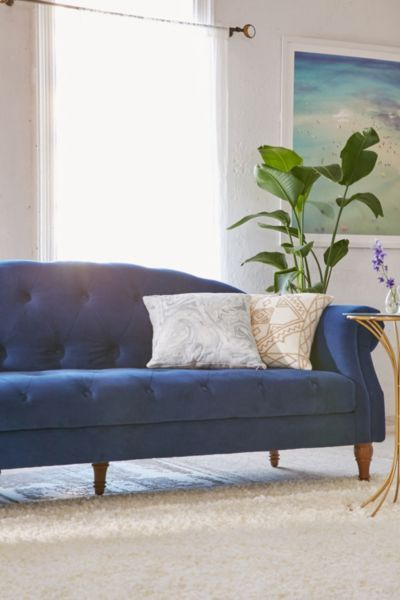 Navy Tufted Headboard By High Fashion Home: Best 25+ Velvet Tufted Sofa Ideas On Pinterest