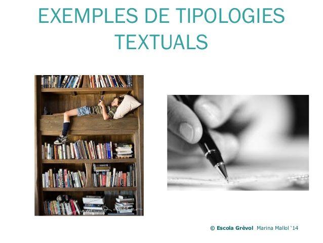 EXEMPLES DE TIPOLOGIES TEXTUALS © Escola Grèvol Marina Mallol '14