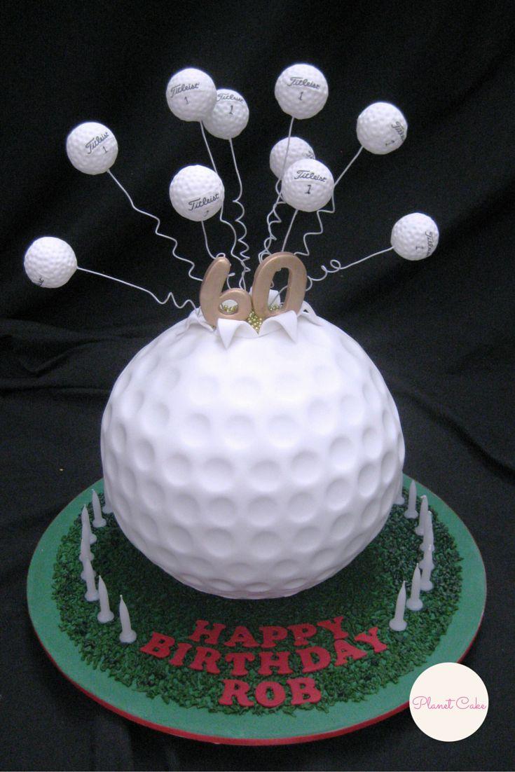 Exploding Golf Ball Cake