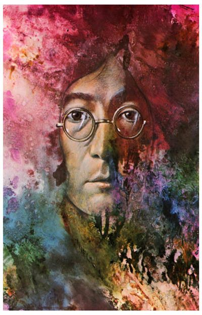 John Lennon Let It Be Psychedelic Beatles Music Poster 11x17