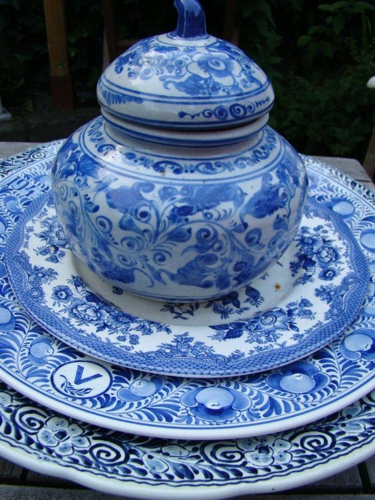 Delftsblauwe borden