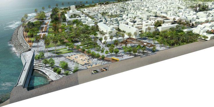 Projet : Nouvelle Entrée Ouest de Saint-Denis| Projet | Urbanisme | Zone-Up - Architectes Paysagistes et Urbanistes - Ile de La Réunion