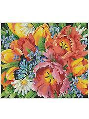 Spring Favorites Cross-Stitch Pattern - Electronic Download