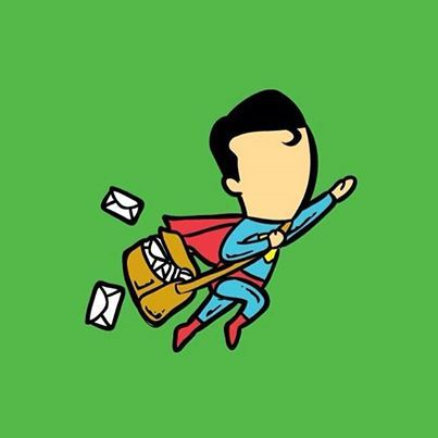 Supermailman to the rescue! Up up and away!  #Mailman #Snailmail #InstaMail #ArchitecturalMailboxes