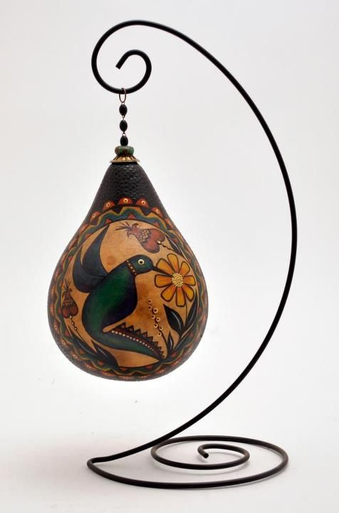 Gourd art by Mark and Karen Klay, featuring GourdMaster™ Transparent Acrylics.