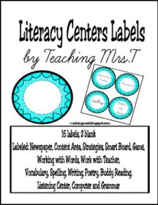 "FREE LANGUAGE ARTS LESSON – ""Literacy Centers Labels"" - Go to The Best of Teacher Entrepreneurs for this and hundreds of free lessons. Kindergarten - 5th Grade   http://thebestofteacherentrepreneursmarketingcooperative.net/free-language-arts-lesson-literacy-centers-labels/"