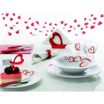 Zastawa obiadowa Love z motywem serca marki Guzzini  - Decorto