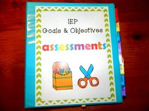 IEP goal and objectives assessment data