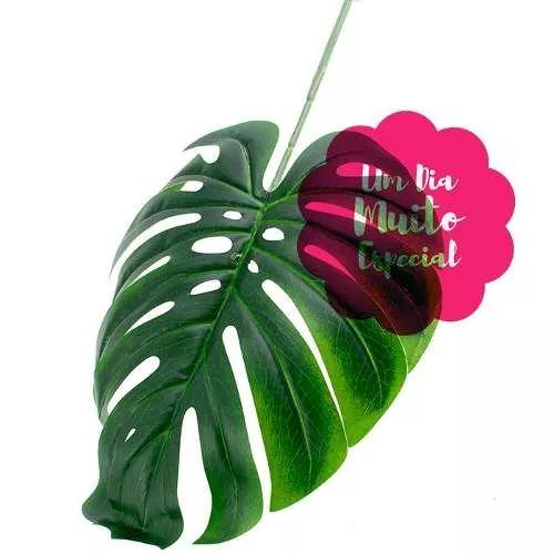 50 folhas costela de adão artificial folhagem folha planta