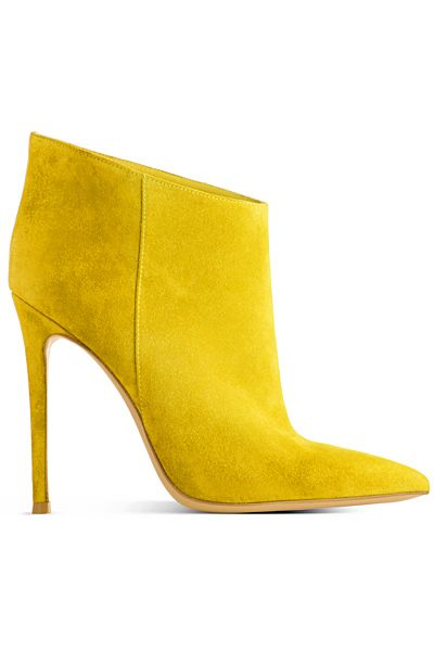 These Gianvito Rossi Yellow Suede Ankle Boots Are Very Hot...