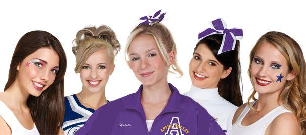 DICas de cabelo e maquiagem cheerlearders