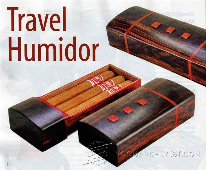 Travel Humidor Plans - Woodworking Plans and Projects | WoodArchivist.com