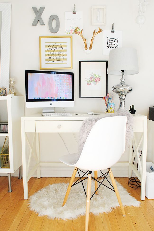 Lauren Elizabeth | Apartment Tour: Office Space is creative inspiration for us. Get more photo about home decor related with by looking at photos gallery at the bottom of this page. We are want to say thanks if you like to share this post to another people via your facebook, …
