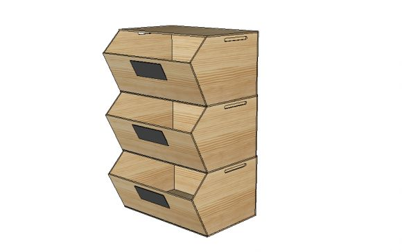 Free DIY Furniture Plans to Build Stackable Recycle Bins