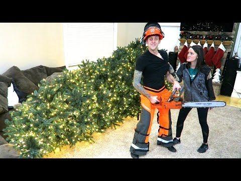 TOOK THE TREE DOWN!! - YouTube