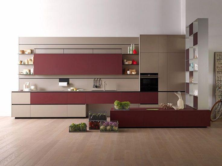 Laminate fitted kitchen RICICLANTICA LAMINATO - GRIGIO CALDO Riciclantica Collection By VALCUCINE