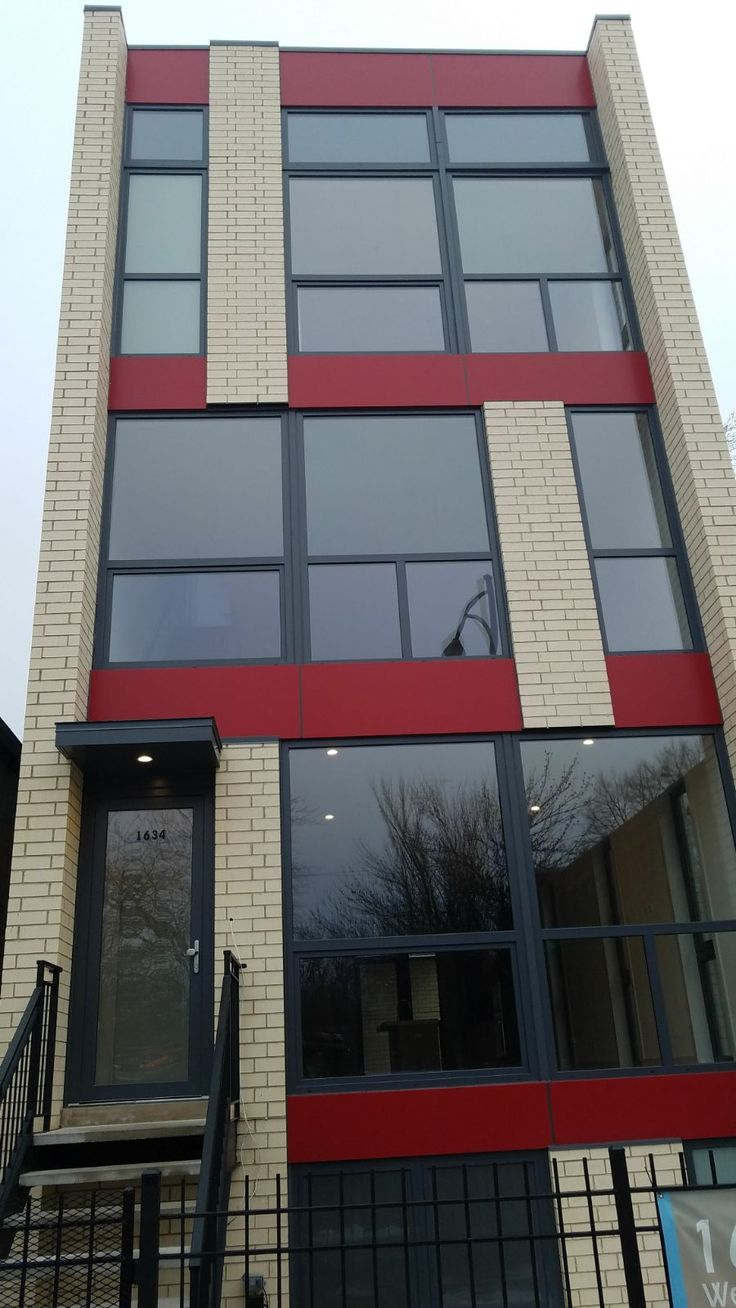 1634 W AUGUSTA BLVD, CHICAGO  West Town/Ukrainian Village. New construction duplex condominium homes. Windows and doors by SWD. Profile SWD A5 shapes 20, total quantity 34. Construction project realized by Michael Volochyi, Volo Development.