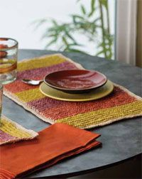 Tunisian Crochet Pattern #4: Summer's Day Placemats