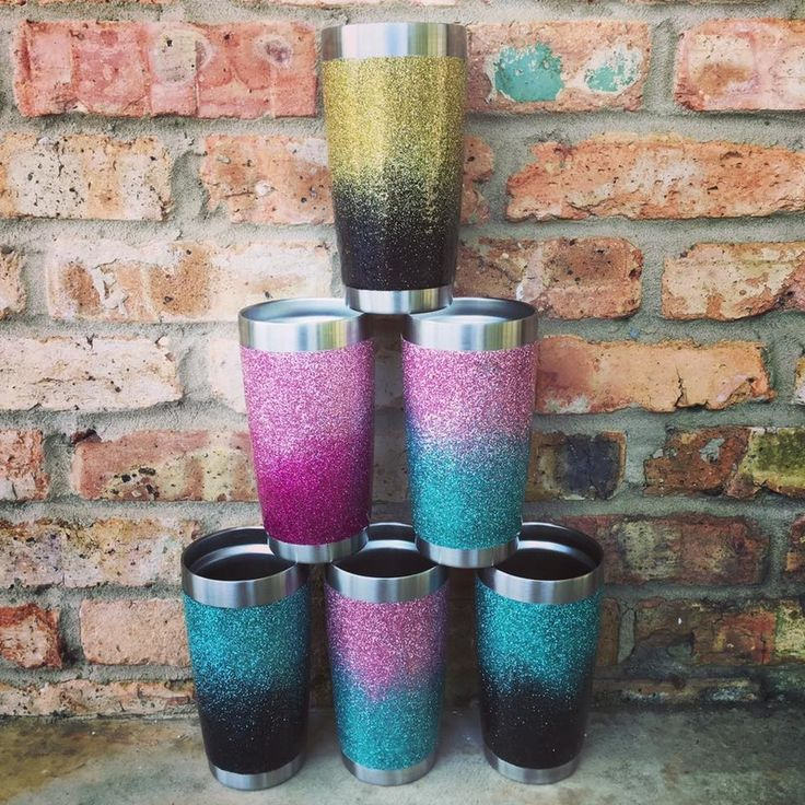 DIY Glitter Yeti Tumblrs (Source: Silhouette CAMEO Inspiration Facebook Group) GLITTER Yeti Cups Everything you need to make your Yeti THAT much better.  List of supplies: (these are just what I...