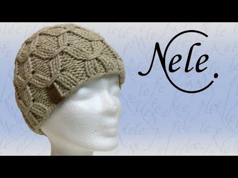 Mütze stricken, Mütze mit Smoke Muster, DIY - Anleitung by Nele C. - YouTube