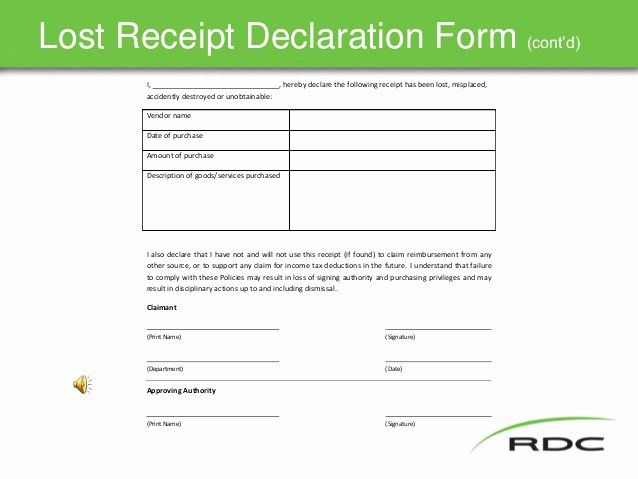 Lost Receipt Form Template Luxury Travel Policy Slide Show Nov17 Final Receipt Template Templates Contract Template