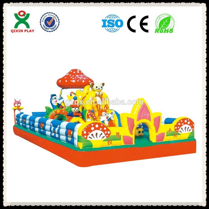 Mushroom style cheap bouncy castles/bounce houses/inflatable games QX-112B