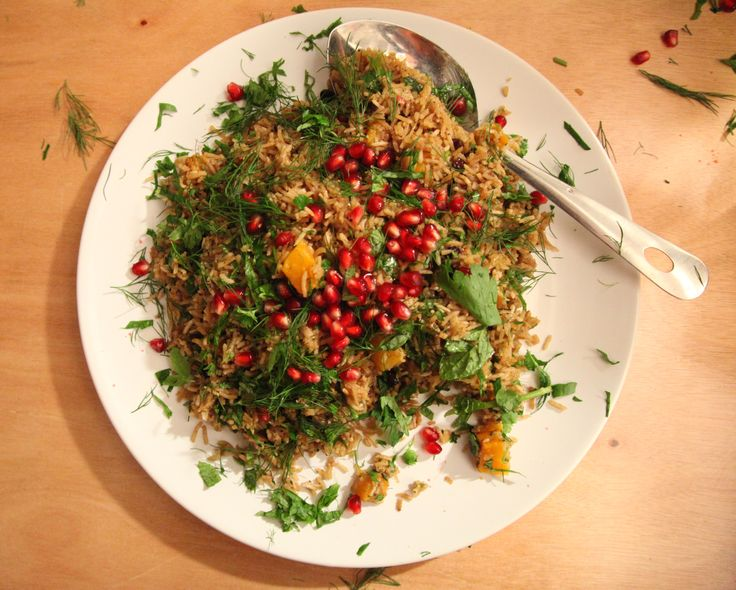 Spring Vegetable Pilav With Pomegranate And Fresh Herbs Sharing Plates Weddings Feasts LONDON