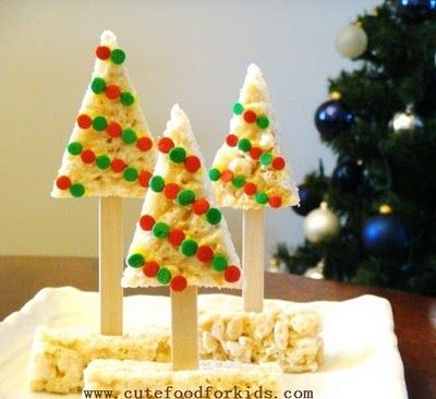 Cute Food For Kids?: Rice Krispy Christmas Trees