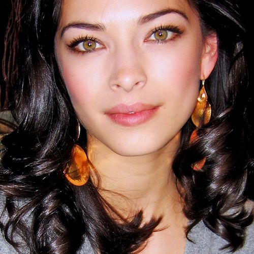 Kristin Kreuk. Pretty eyes!  I love her natural exotic beauty.