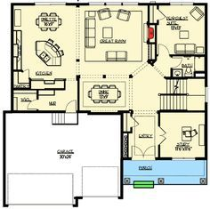 Plan 73335HS: Craftsman With Elegant Master Suite