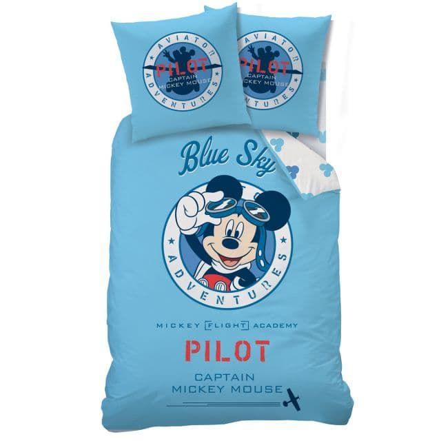 Parure de lit Mickey Mouse Pilote Disney - Bébé Gavroche