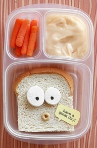 kid lunch ideas with funny faces
